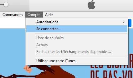 Se connecter sur iTunes